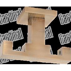 Тримач подвійний на стелю квадро