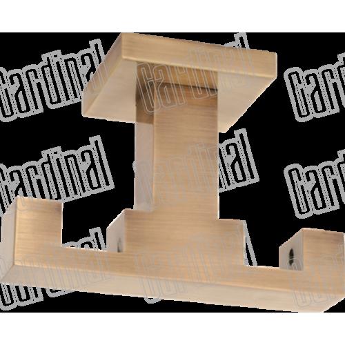 Держатель для карниза двойной на потолок квадро