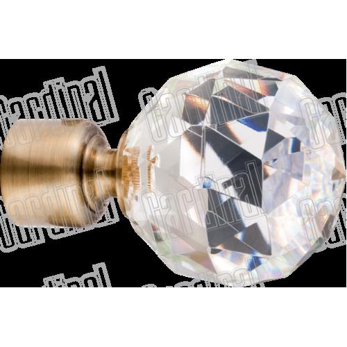 Наконечник для карниза 16мм кристалл-шар