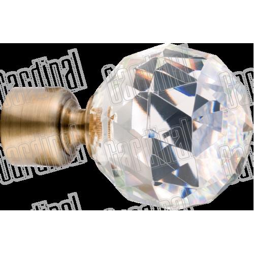 Наконечник для карниза 25мм кристалл-шар