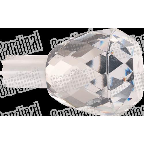 Наконечник для карниза 19мм кристал-овал