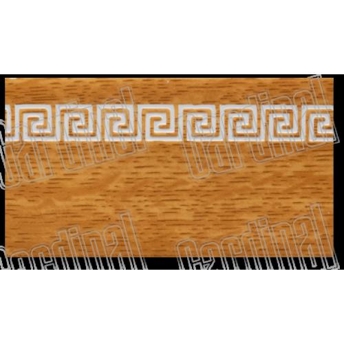 Декоративна накладка дуб світлий з молдингом
