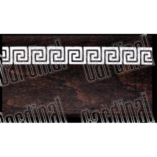 Декоративная накладка дуб темный с молдингом