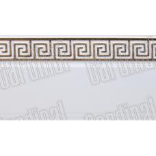 Декоративная накладка белая с золотым молдингом