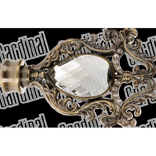 Наконечник для карниза 25мм миранда с кристаллом
