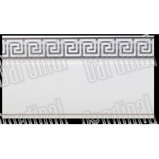 Декоративная накладка белая с серебряным молдингом
