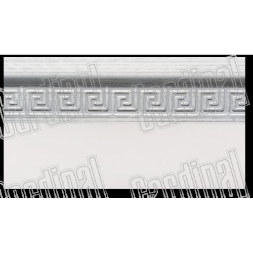 Декоративная накладка МЕАНДР серебро