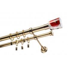 Карниз подвійний Ø25 мм
